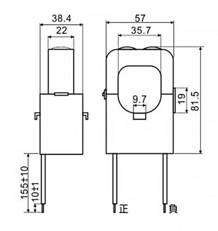 開口式電流傳感器 C36 系列尺寸圖