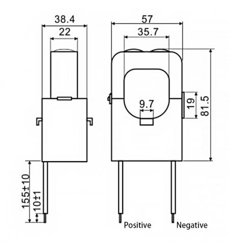 Split-Core Current Sensors C36 Series Drawing