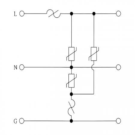 電路圖 (LED 照明設備突波保護器 WSP-SL 系列)