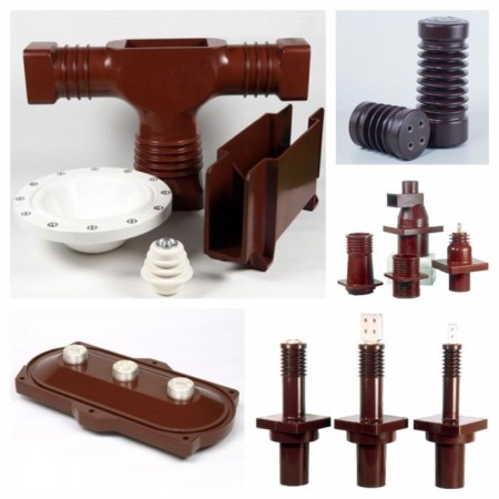 Epoxy resin bushings and epoxy insulators