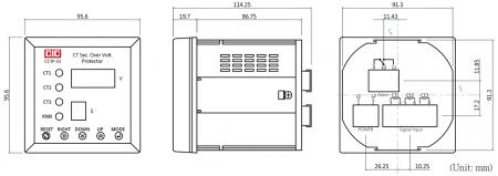 Protetor de sobretensão para proteção do transformador de corrente (desenho)