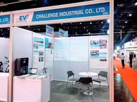 CIC showcasing EV chargers at at Electric Vehicle Asia 2019 - ASEAN Sustainable Energy Week Exhibition