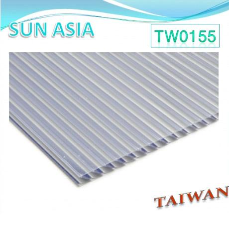 Obturador Multiwall lámina de policarbonato (gris) - Obturador Multiwall lámina de policarbonato (gris)