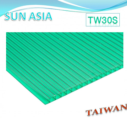 Twin Wall Polycarbonate Sheet (Green) - Twin Wall Polycarbonate Sheet (Green)
