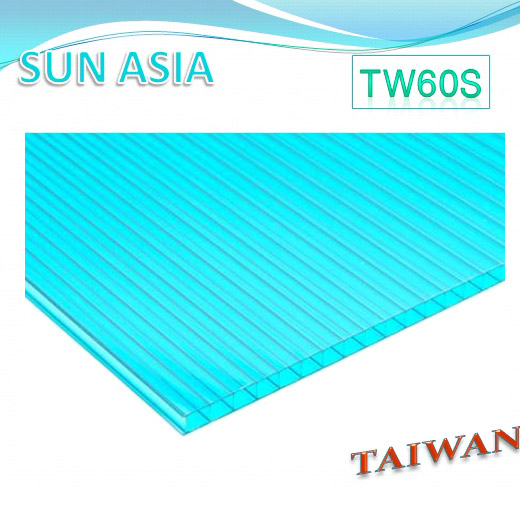 Twin Wall Polycarbonate Sheet (Blue Green) - Twin Wall Polycarbonate Sheet (Blue Green)