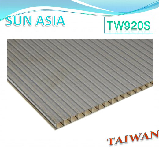 Frosted Twin Wall Polycarbonate Sheet (Brown) - Frosted Twin Wall Polycarbonate Sheet (Brown)