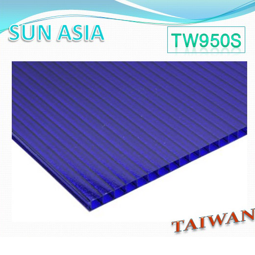 Frosted Twin Wall Polycarbonate Sheet (Blue) - Frosted Twin Wall Polycarbonate Sheet (Blue)