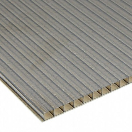 Hoja de policarbonato de pared gemela esmerilada - Hoja de policarbonato de pared gemela esmerilada
