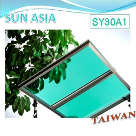 Lámina de policarbonato sólido UV400 (verde claro) - Lámina de policarbonato sólido UV400 (verde claro)