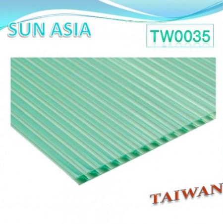 ورق پلی کربنات چند جداره شاتر (سبز) - ورق پلی کربنات چند جداره شاتر (سبز)