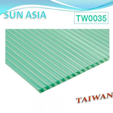 Shutter Multiwall Polycarbonate Sheet (Green) - Shutter Multiwall Polycarbonate Sheet (Green)
