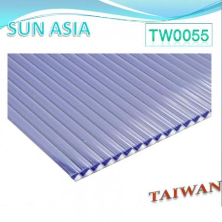 ورق پلی کربنات چند جداره شاتر (آبی) - ورق پلی کربنات چند جداره شاتر (آبی)