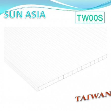 لوح بولي كربونات مزدوج الجدار (شفاف) - لوح بولي كربونات مزدوج الجدار (شفاف)