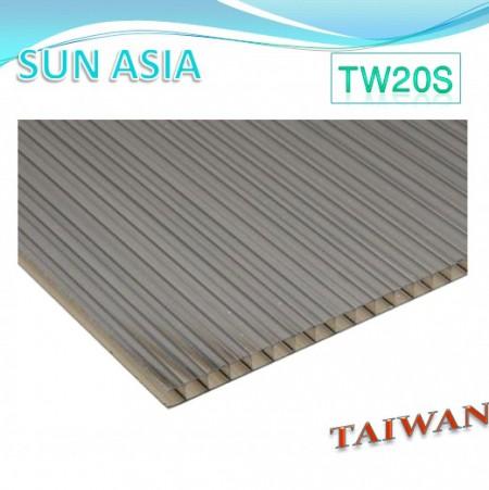 ورق پلی کربنات دو جداره (قهوه ای) - ورق پلی کربنات دو جداره (قهوه ای)