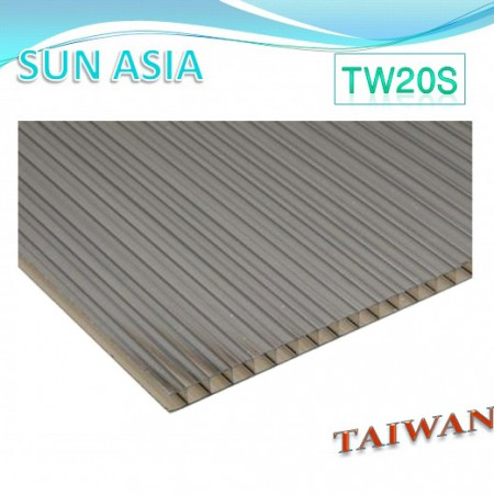 Twin Wall Polycarbonate Sheet (Brown) - Twin Wall Polycarbonate Sheet (Brown)