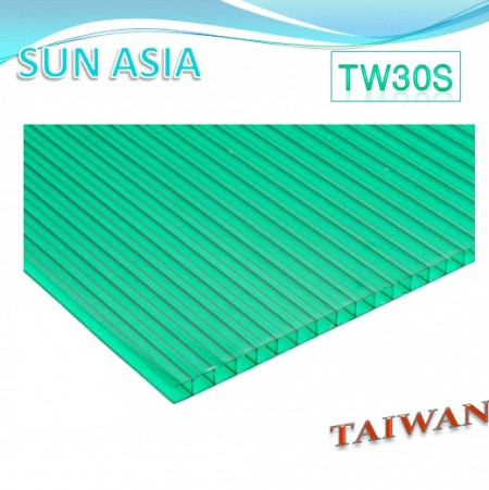 Lámina de policarbonato de pared doble (verde) - Lámina de policarbonato de pared doble (verde)