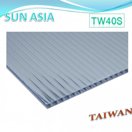 Twin Wall Polycarbonate Sheet (Gray) - Twin Wall Polycarbonate Sheet (Gray)