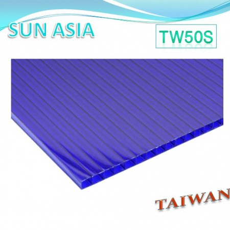 Twin Wall Polycarbonate Sheet (Blue) - Twin Wall Polycarbonate Sheet (Blue)