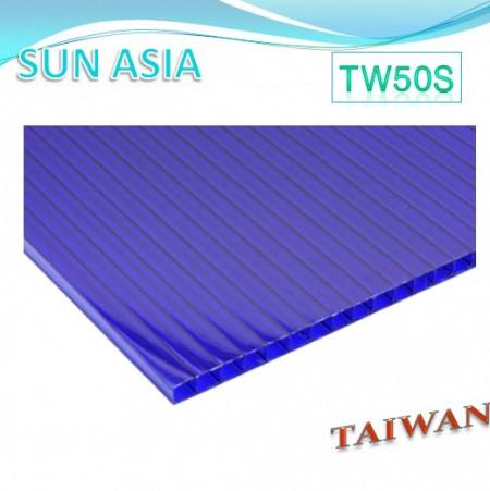 لوح بولي كربونات مزدوج الجدار (أزرق) - لوح بولي كربونات مزدوج الجدار (أزرق)