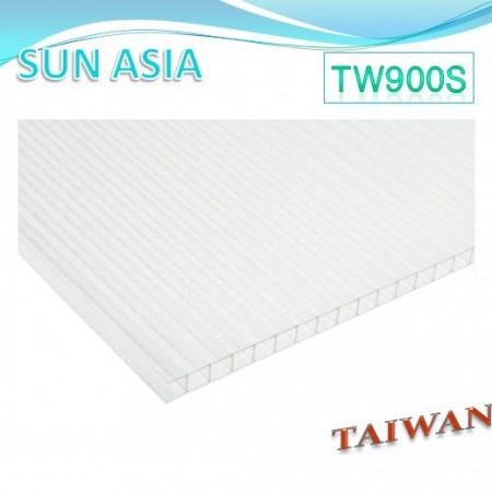 Lámina de policarbonato de doble pared mate (transparente) - Lámina de policarbonato de doble pared mate (transparente)