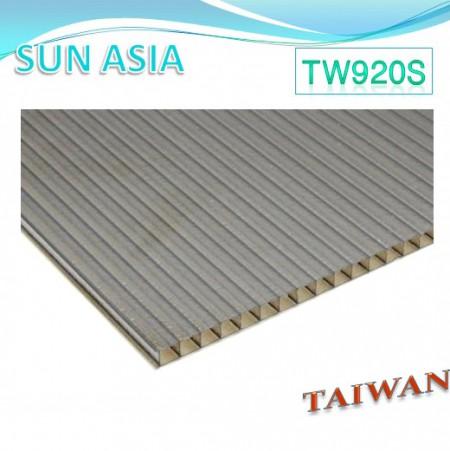 Hoja de policarbonato de doble pared mate (marrón) - Hoja de policarbonato de doble pared mate (marrón)