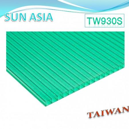 Hoja de policarbonato de doble pared mate (verde) - Hoja de policarbonato de doble pared mate (verde)