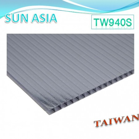 Frosted Twin Wall Polycarbonate Sheet (Gray) - Frosted Twin Wall Polycarbonate Sheet (Gray)