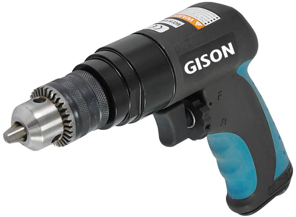 "3/8"" Reversible Air Drill (1800rpm,Composite Body) - GP-840J"