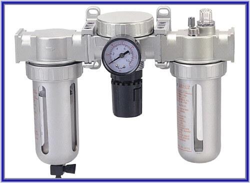 Блок подготовки воздуха (воздушный фильтр, регулятор воздуха, воздушный лубрикатор)