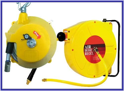 Carrete y equilibrador de manguera de aire
