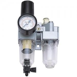 Миниатюрный комплект для подготовки воздуха 1/8 дюйма (воздушный фильтр / регулятор, лубрикатор) ГП-814С