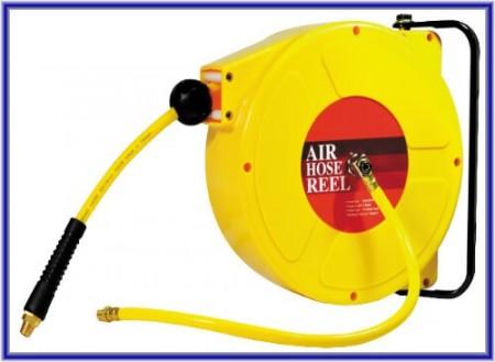Carrete de manguera de aire práctico