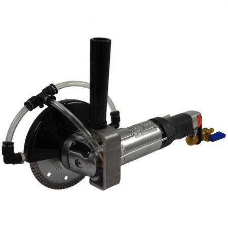 Ferăstrău cu aer umed pentru piatră (11000 rpm, mânerul drept) GPW-215CR (dreapta)
