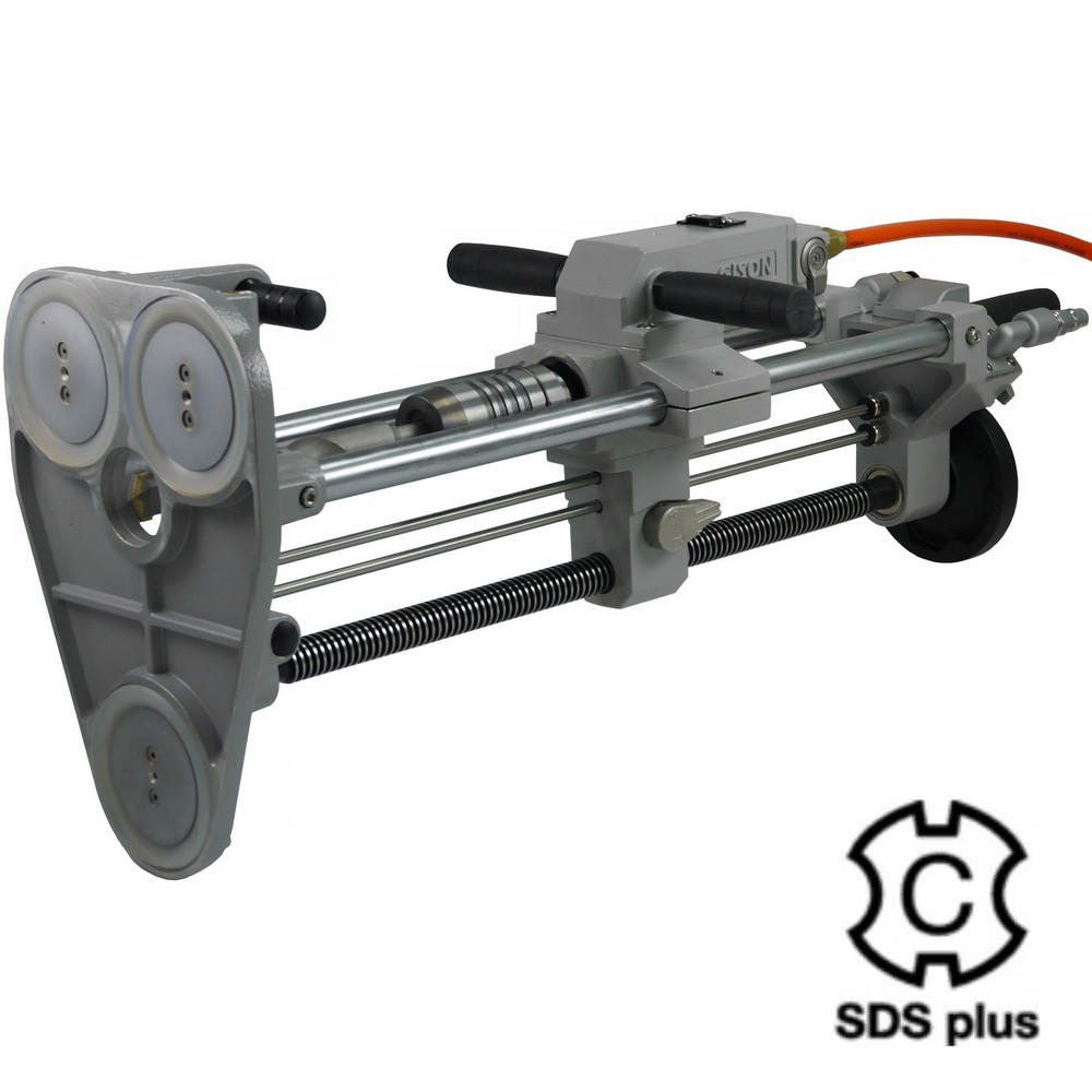 AIR ROTARY HAMMER DRILL (INCLUDE VACUUM SUCTION FIXING STAND, SDS-PLUS, 1500RPM) - GPD-231A