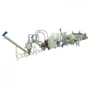 Sistema di setacciatura, essiccazione, peeling, macinazione di soia