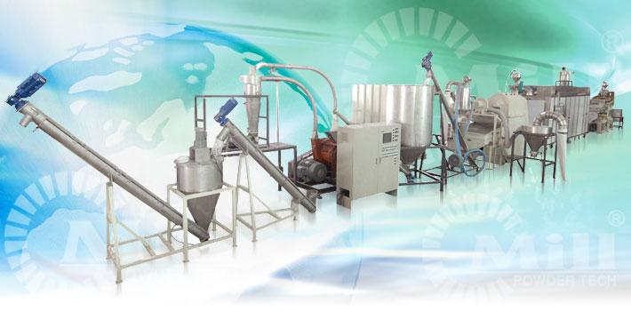 soy bean powder handling processing equipment turnkey system