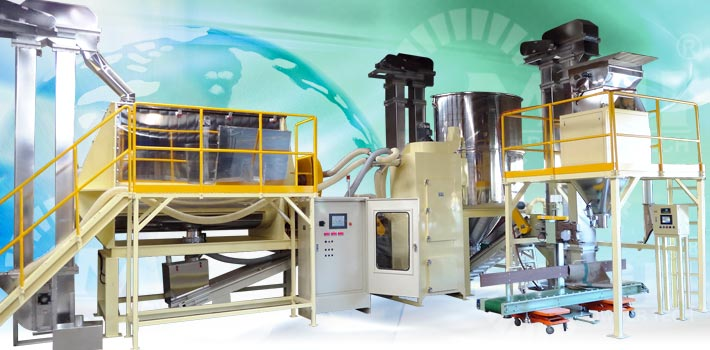 ribbon blender and mixer turnkey processing line