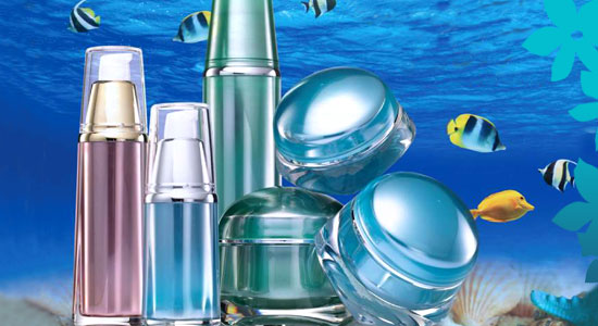 cosmetic bottles jelly fish