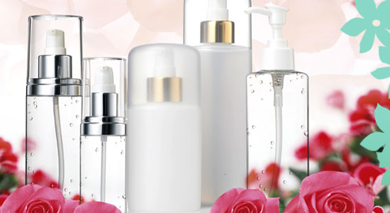 cosmetic bottles Rose Garden series