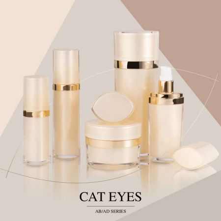 Cat Eyes (Oval Shape Acrylic Cosmetic Packaging Series)