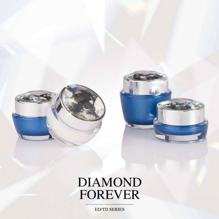 Diamond Forever (Diamond Cap Round Acrylic Cosmetic Packaging)