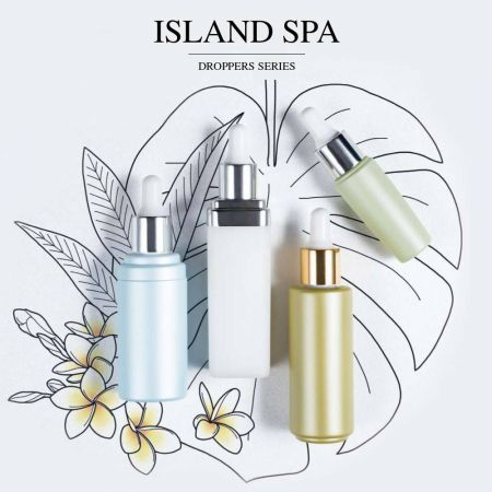 Island Spa (ECO PP & PET Droppers Cosmetic & Skincare packaging)