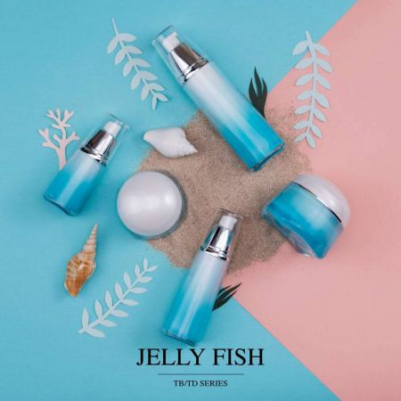 Jelly Fish (Tent Shape Acrylic Luxury Cosmetic & Skincare Packaging)