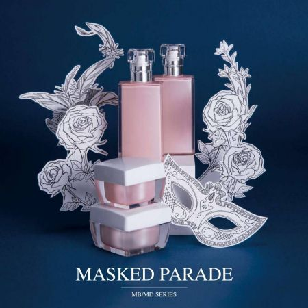 Masked Parade (Square Acrylic Cosmetic & Skincare Packaging)