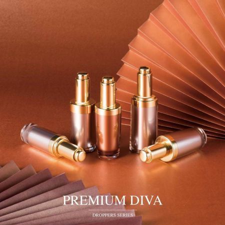 Premium Diva (Luxury Acrylic Cosmetic Dropper Cosmetic & Skincare packaging)