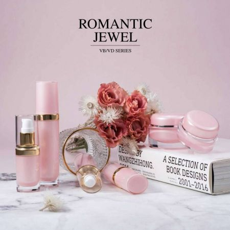 Romantic Jewel (Oval Shape Acrylic Luxury Cosmetic & Skincare Packaging)