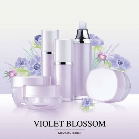 Cosmetic Packaging Collection - Violet Blossom