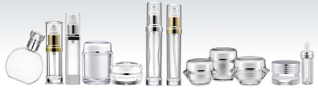 garrafas plásticas de cosméticos