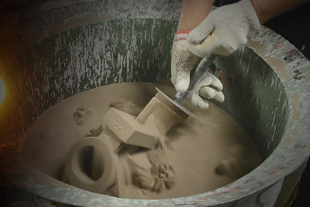 Investment casting process - ceramic atuccoing