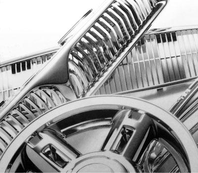 خدمة طلاء الكروم الكهربائي لقطع غيار السيارات لجنرال موتورز وكرايسلر وفورد